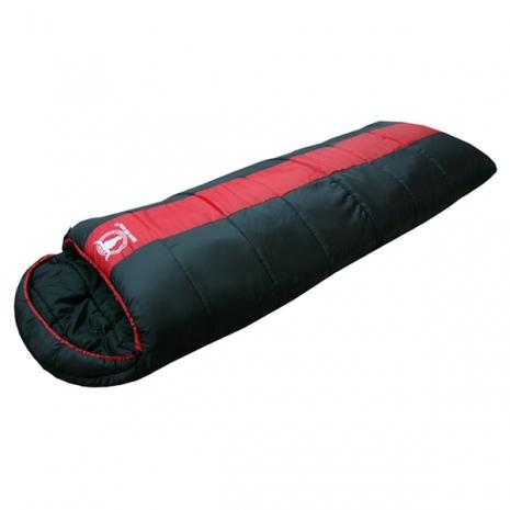 【APC】秋冬可拼接全開式睡袋(雙層七孔棉)(紅黑色)