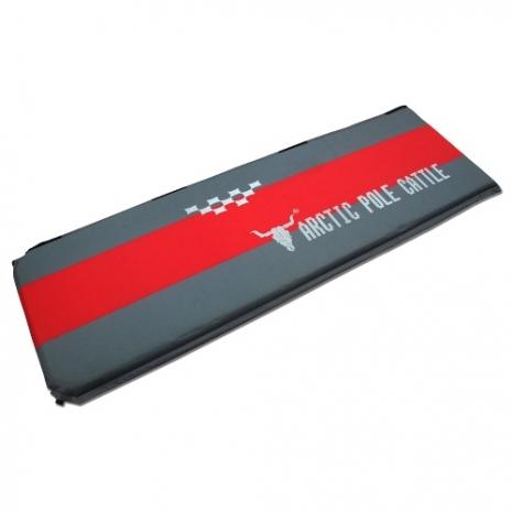 【APC】豪華加厚可拼接自動充氣睡墊(190*60*厚5cm)-紅灰配色