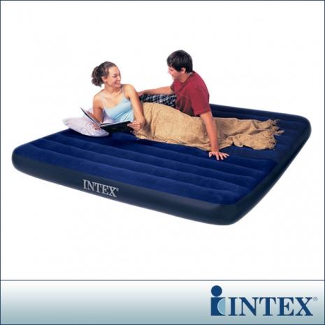 【INTEX】雙人超大型植絨充氣床墊-寬183cm(68755)