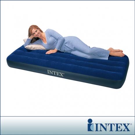 【INTEX】單人型植絨充氣床墊-寬76cm(68950)