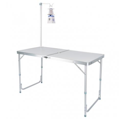 【LIFECODE】007鋁合金箱型行動折疊桌-送燈架-(野餐桌/展示桌/洽談桌)
