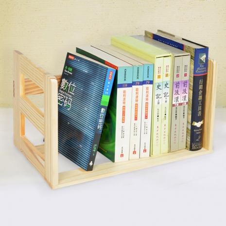 【LIFECODE】極簡風松木桌上型簡易書架-居家日用.傢俱寢具-myfone購物