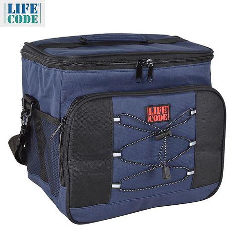 【LIFECODE】歐風保冰袋/保溫袋 /保冷袋 (15L) -藏青色