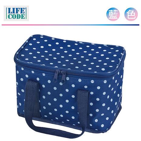 LIFECODE《小丸子》保冰袋/小冰包/便當袋 (6L) 深藍色