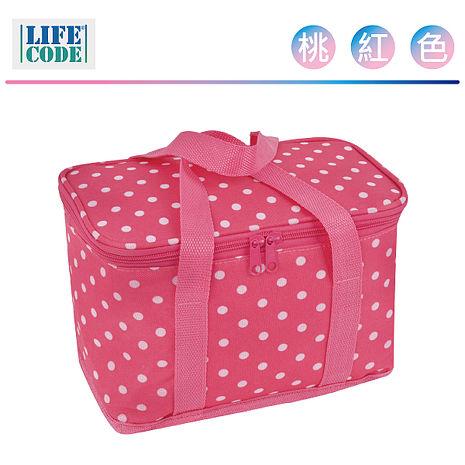 LIFECODE《小丸子》保冰袋/小冰包/便當袋 (6L) 桃紅色