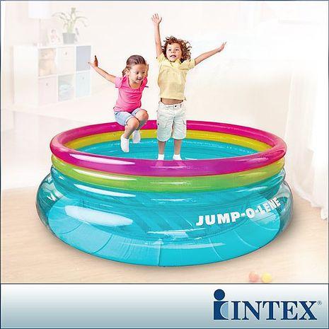 特賣↘【INTEX】兒童圓形三色透明跳跳床/球池-寬203cm(48267NP)