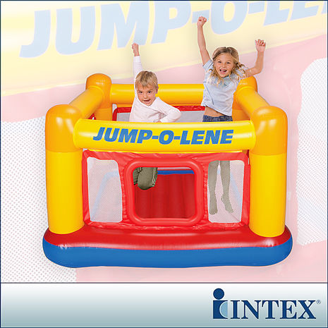 特賣↘【INTEX】充氣式跳跳床-擂台 JUMP-O-LENE-寬174cm
