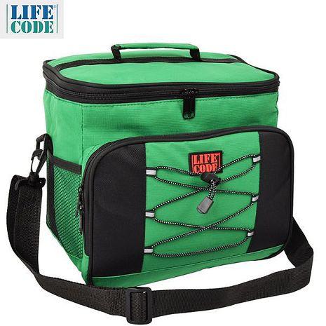 【LIFECODE】歐風保冰袋/保溫袋 /保冷袋 (15L) -綠色