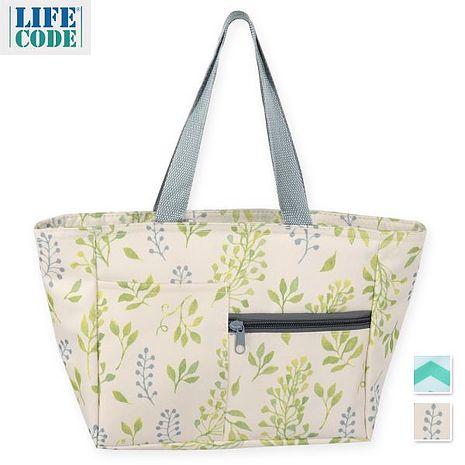 【LIFECODE】多用途保冰水餃包/午餐袋/便當袋-2色可選薰衣草花