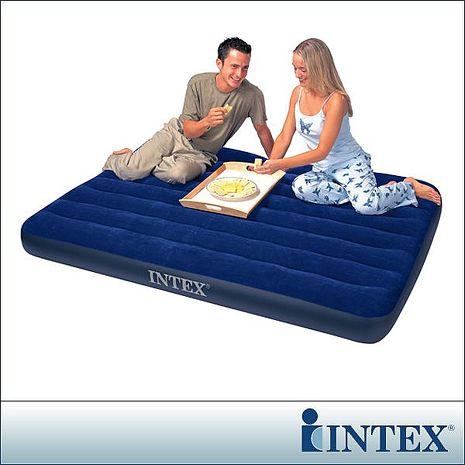 【INTEX】雙人植絨充氣床墊-寬137cm(68758)-戶外.婦幼.食品保健-myfone購物