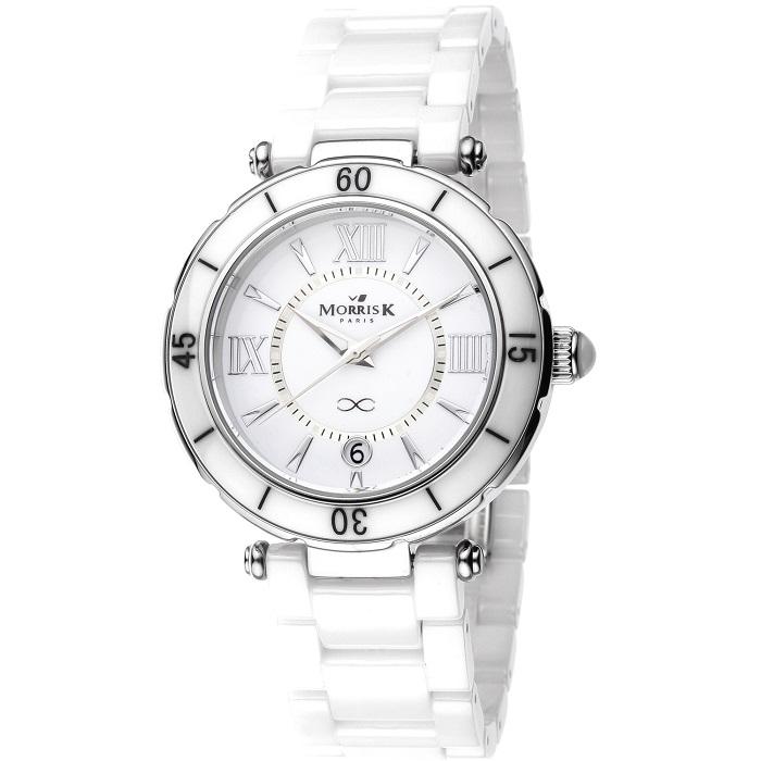 MorrisK 羅志祥代言 亮麗陶瓷腕錶  經典白