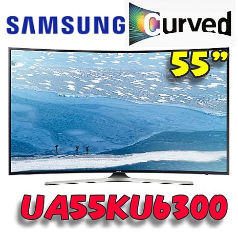 Samsung 三星 55吋 UHD 4K 黃金曲面 Smart TV  UA55KU6300WXZW/UA55KU6300