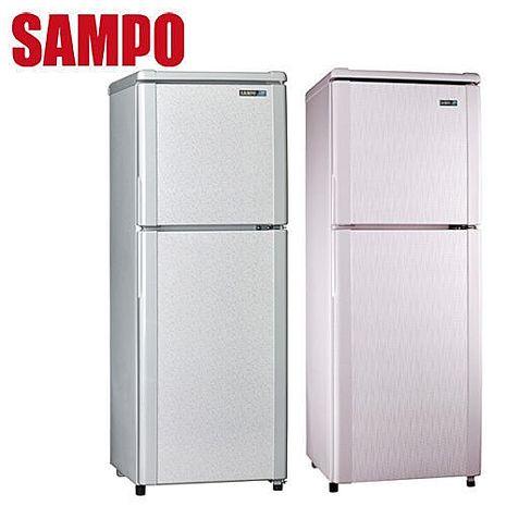 SAMPO 聲寶 140L雙門冰箱 SR-L14Q (S1)(R5)粉彩紅
