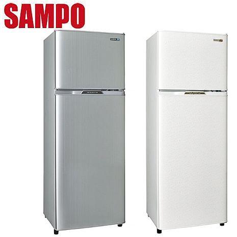 SAMPO 聲寶 250公升省電節能1級雙門冰箱 SR-L25G (W2)(S2)璀璨銀(S2)