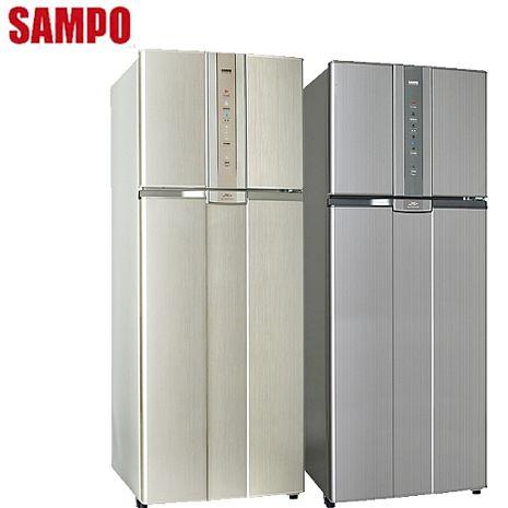 【SAMPO聲寶】460L智慧節能變頻一級雙門冰箱 SR-N46D (Y2金)(G5灰)