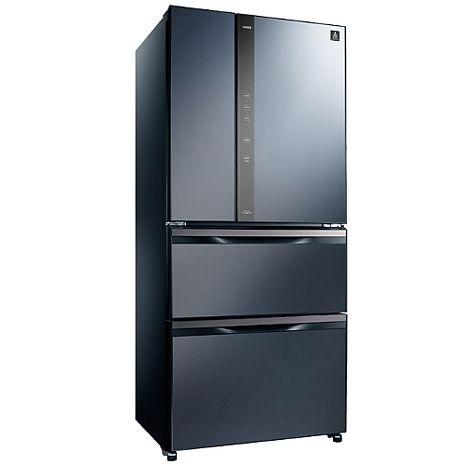 【SAMPO聲寶】560公升變頻玻璃鏡面四門冰箱SR-NW56DD(B3尊爵藍)