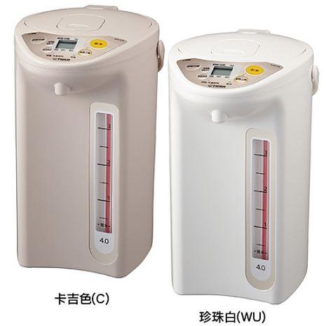 TIGER 虎牌 日本原裝 4.0L微電腦電熱水瓶 PDR-S40R珍珠白色