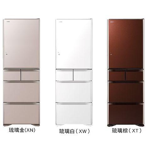 【HITACHI 日立】日本原裝501L五門變頻電冰箱 RG500GJ-XN/RG500GJ-XW/RG500GJ-XT琉璃金