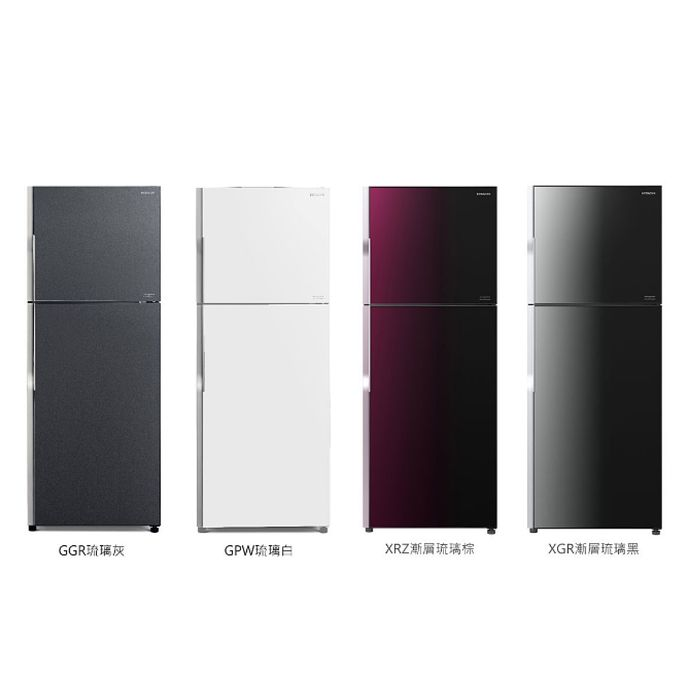 【HITACHI 日立】381L變頻兩門琉璃冰箱 RG399琉璃灰