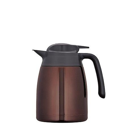 【THERMOS 膳魔師】不鏽鋼真空保溫壺(THV-1000)CBW咖啡色