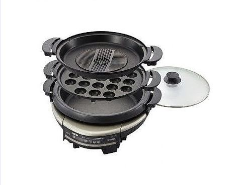 【TIGER 虎牌】5.0L三合一多功能萬用電火鍋(CQD-B30R)(電烤盤特賣)