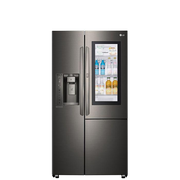 LG樂金761公升敲敲看門中門對開WIFI自動製冰門外取冰取水星夜黑冰箱GR-QPL88BS