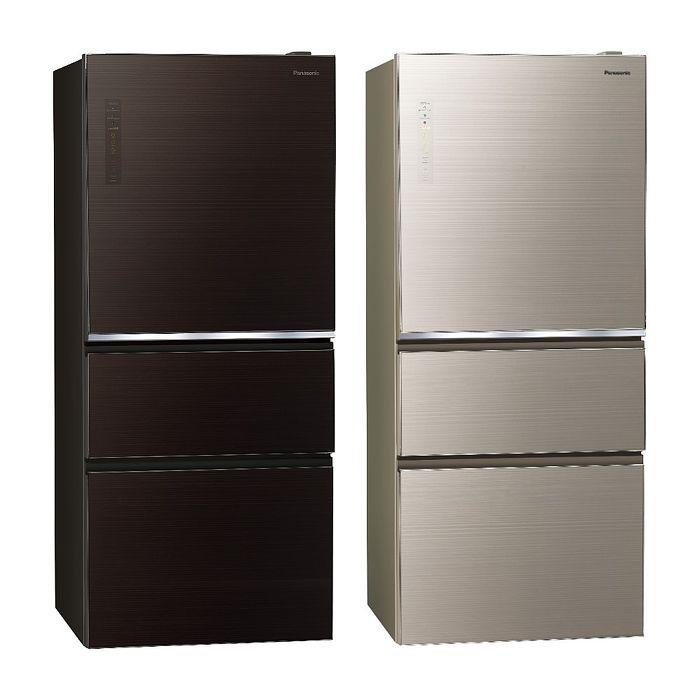 Panasonic國際牌610公升三門變頻玻璃冰箱NR-C611XGS-T/NR-C611XGS-N(冰箱特賣)