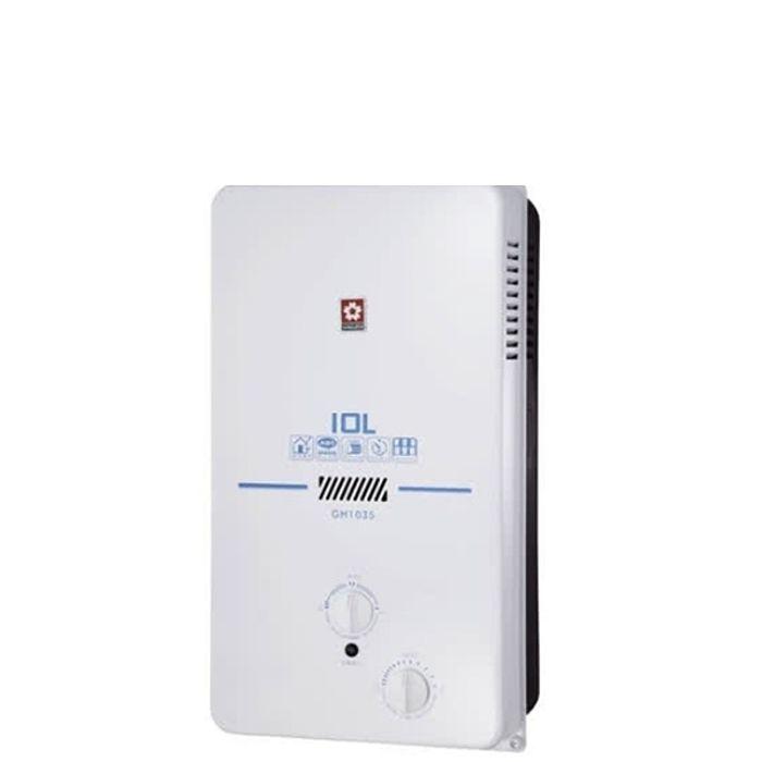 (結帳享驚喜價)櫻花10公升ABS防空燒(與GH1035/GH-1035同款)熱水器GH-1035N/GH-1035L *能效2級*(全省安裝)