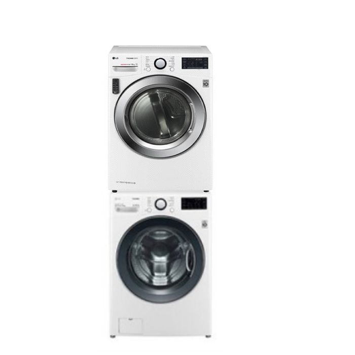LG樂金16公斤免曬衣機+18公斤滾筒蒸洗脫洗衣機WR-16HW+WD-S18VCW