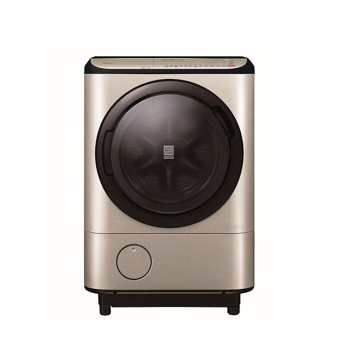 日立12.5公斤溫水滾筒(與BDNV125FH同款)洗衣機璀璨金BDNV125FHN★分享送500元★送王品餐券2張★