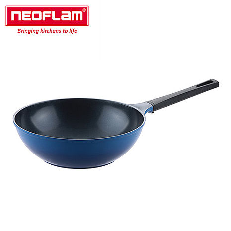 【韓國NEOFLAM】Mitra系列28cm炒鍋-漸層藍