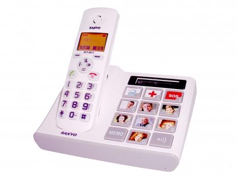 三洋 DECT數位無線電話DCT-0011(白)-家電.影音-myfone購物
