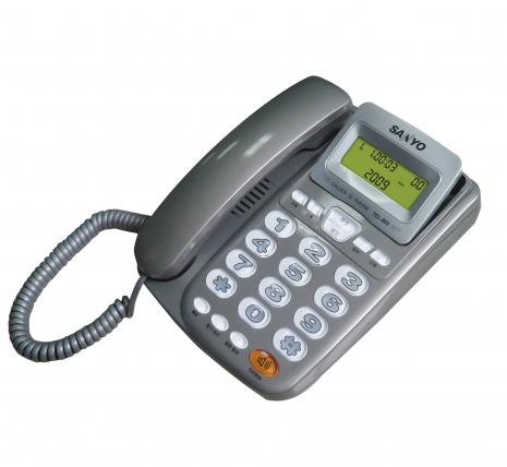 三洋 來電顯示有線電話TEL-805(灰)