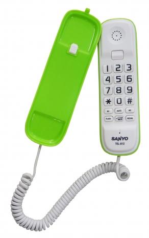 三洋 超大字鍵有線電話TEL-812(綠)