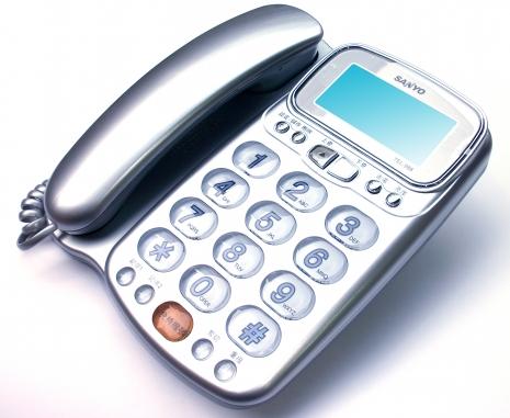 三洋 來電顯示有線電話TEL-986(銀)