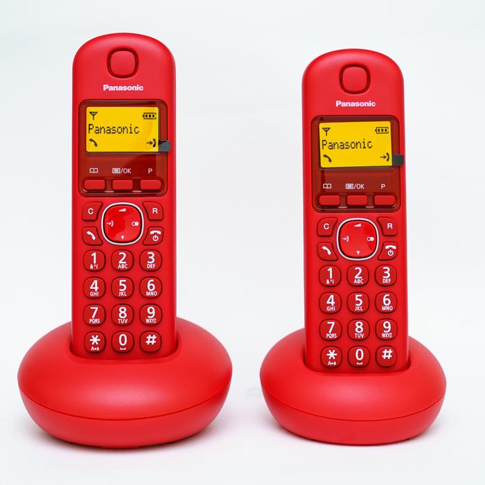 【TGB212TW】 Panasonic 國際牌數位DECT 無線電話 KX-TGB212TW (松下公司貨) 紅色