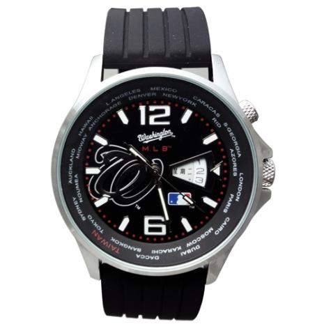 MLB國民氚氣燈管石英腕錶MJD502