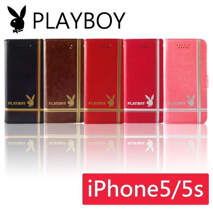 PLAYBOY 十字線條款 iPhone5/5S 皮套