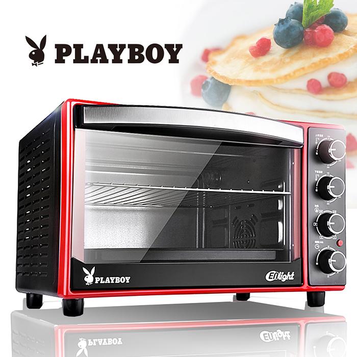 【PLAYBOY】33L雙溫控烘培烤箱(送拼布包)