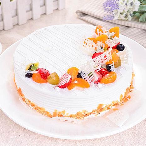 樂活e棧 父親節造型蛋糕-典藏白之翼 蛋糕6吋/顆共1顆水果x芋頭