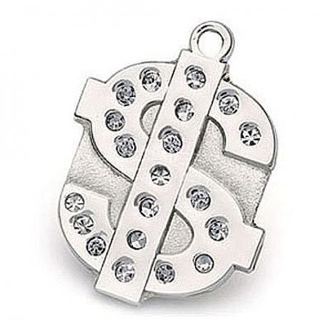 澳洲品牌Hamish McBeth - BlingBling水晶吊牌(錢幣 / 銀色)