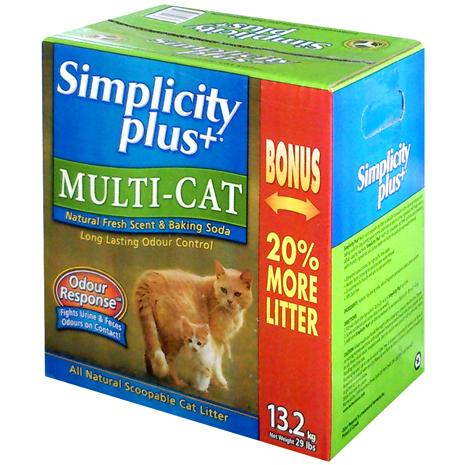 Simplicity Plus+喜樂加強版凝結貓砂 (13.2kg / 多貓家庭專用)