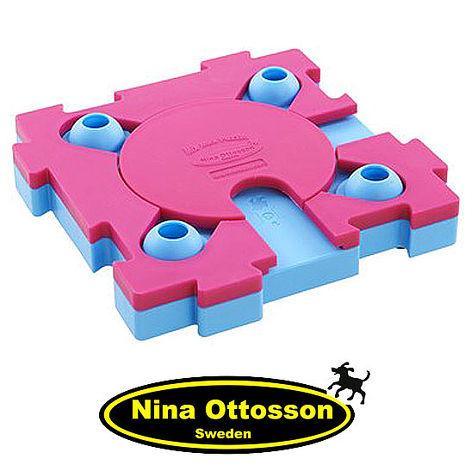 【Nina Ottosson寵物益智玩具】貓貓混很大拼拼樂(高階)粉藍+桃紅