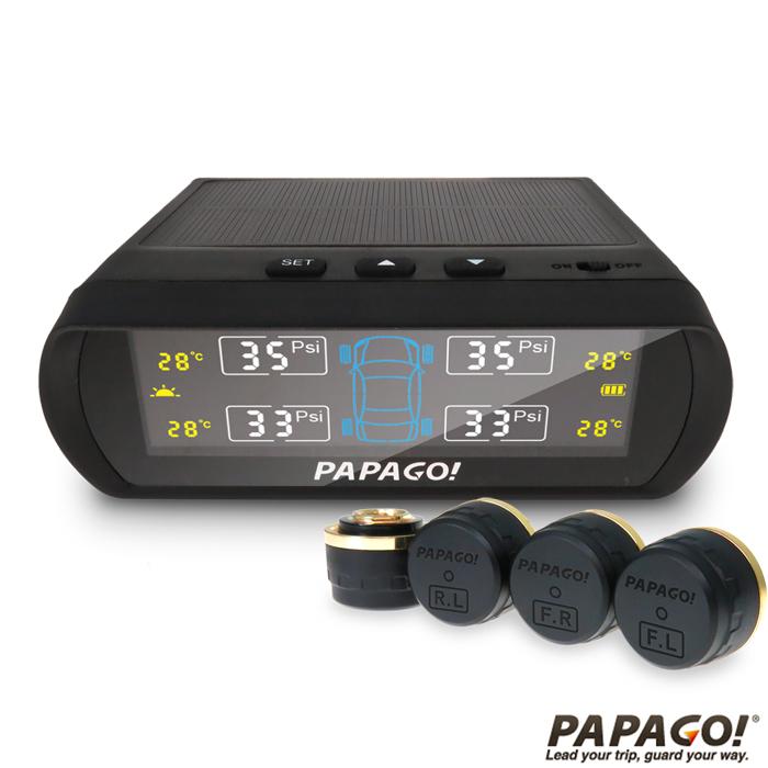 【促銷】PAPAGO  TireSafe S60E無線太陽能胎外式胎壓偵測器(兩年保固)