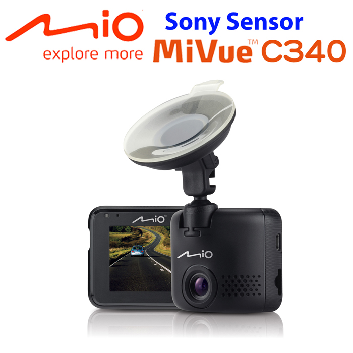 Mio MiVue C340 Sony Sensor大光圈行車記錄器贈16G+點煙器+保護袋+手機矽膠立架