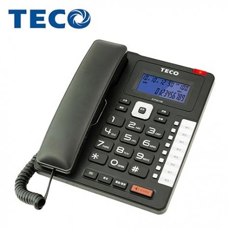 TECO 東元 商務型 來電顯示 有線電話XYFXC106高雅白
