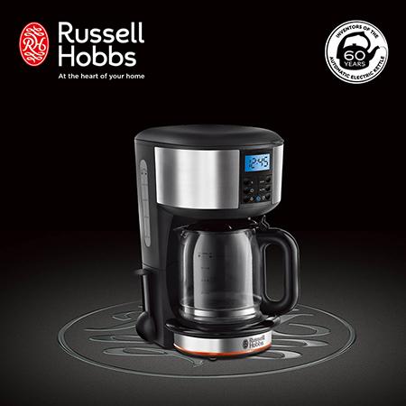 英國Russell Hobbs Legacy 晶亮咖啡機 20681TW-晶亮銀
