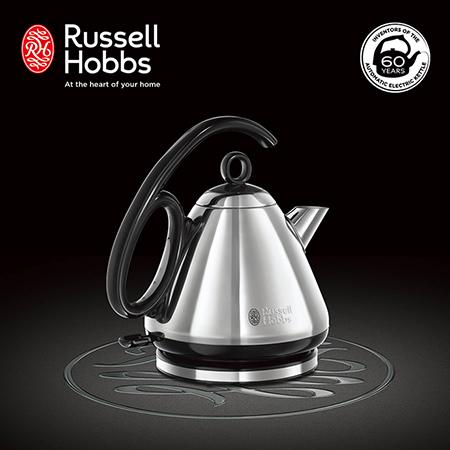 英國Russell Hobbs Legacy 晶亮快煮壺 21280TW-晶亮銀