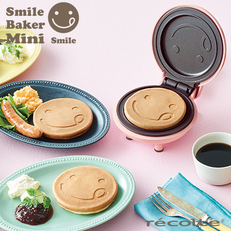 recolte 日本麗克特 Mini 迷你鬆餅機微笑櫻花粉