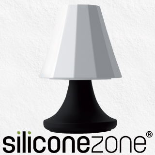 【Siliconezone】可愛檯燈胡椒&鹽罐-黑白(KS-11475-AD)